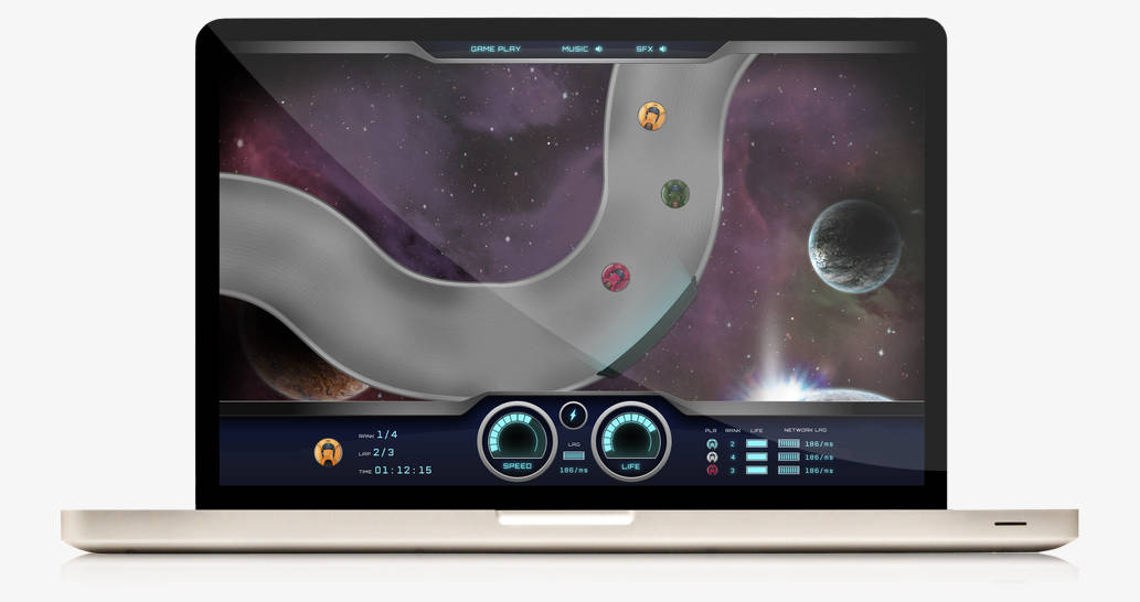SmartFox Adobe Air SpaceRace